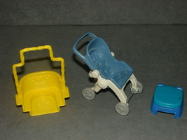 Fisher Price Loving Family Dollhouse: Stroller + Swing + Potty chair - $12.00