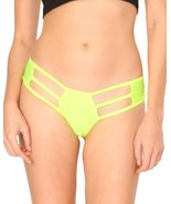 Neon Yellow Cutout Scrunchy Booty Shorts Rave Festival Exotic Outfit Bot... - $16.49