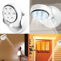 Adjustable LED Motion Light Activated Sensor Indoor Outdoor Cordless Pat... - $10.90