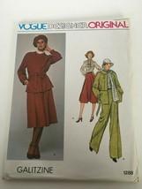 Vogue Designer Original Galitzine Sewing Pattern 1288 Jacket Skirt Pants... - $26.99