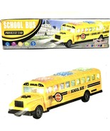 School Bus Privilege Car Sound Music Bump And Go Flash Lights New - $12.86