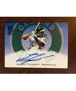 2002 Topps Certified Miguel Tejada #TA3 Baseball Card Auto Autograph Oak... - $19.99