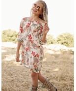 Girls Floral White Off Shoulder Dress 9/10, 11/12, 13/14 - $18.00