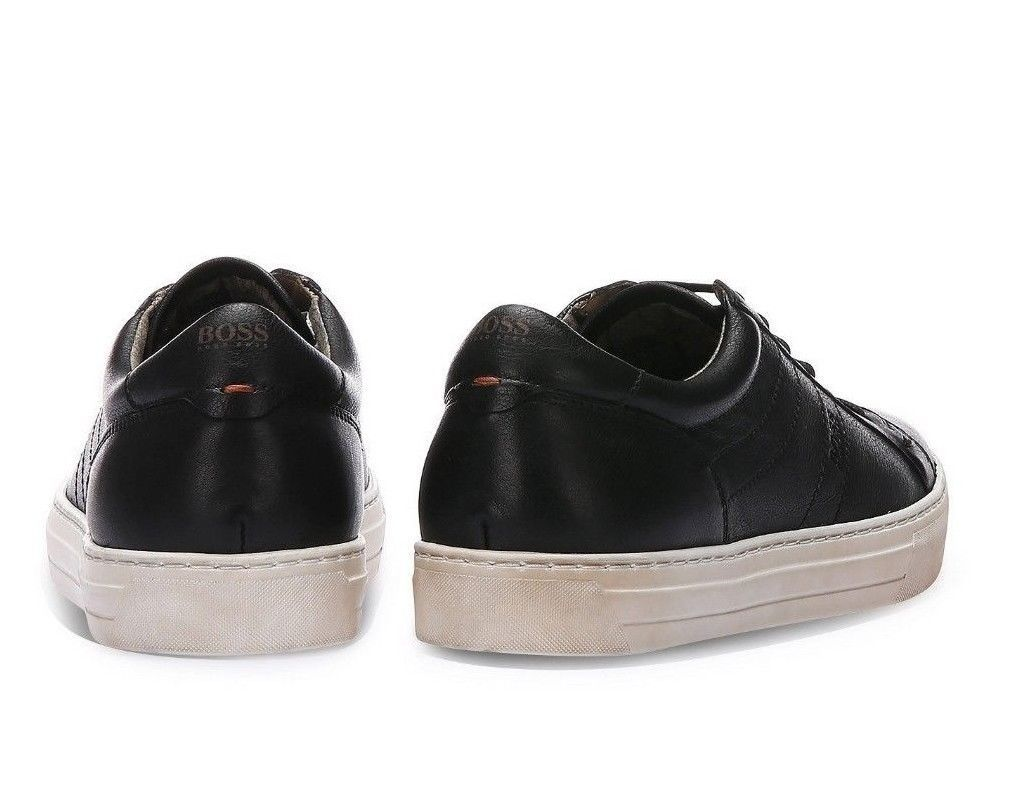 BOSS Calfskin Vintage Sneaker | Noir Tenn Itws Size 8