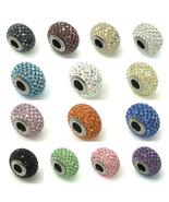 Swarovski European Fit Bracelet Charm Stainless BeCharmed Pave Xilion Ch... - $12.30