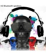 Portable Skeleton Skull Bluetooth Wireless Speaker 15W BT4.0 FM Radio He... - $35.76