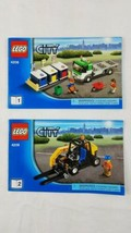 Lego City 4206 Recycling Truck Forklift 1 & 2 Instruction Manuals Only - $9.69