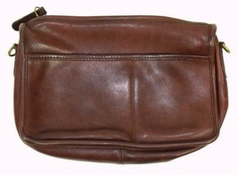 "Vintage 1990s Coach Oiled Brown Leather Purse Satchel Bag Small Size 10""... - $29.69"