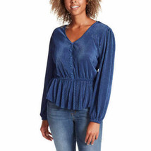 Jessica Simpson Womens Textured Top (Patriot Blue, Small) - $24.99