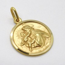 18K YELLOW GOLD ST SAINT ANTHONY PADUA SANT ANTONIO MEDAL MADE IN ITALY, 15 MM image 2