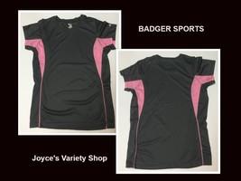 Badger Sports Women's Activewear Shirt Pink & Gray Sz S Moisture Wicking - $9.99