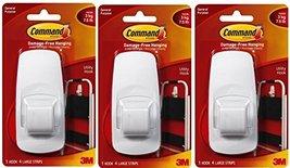 Command Jumbo Plastic Hook with Adhesive Strips, 3-Hooks image 2