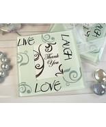 100 Sets Live Laugh Love Glass Photo Coaster Wedding Anniversary Birthda... - €84,48 EUR