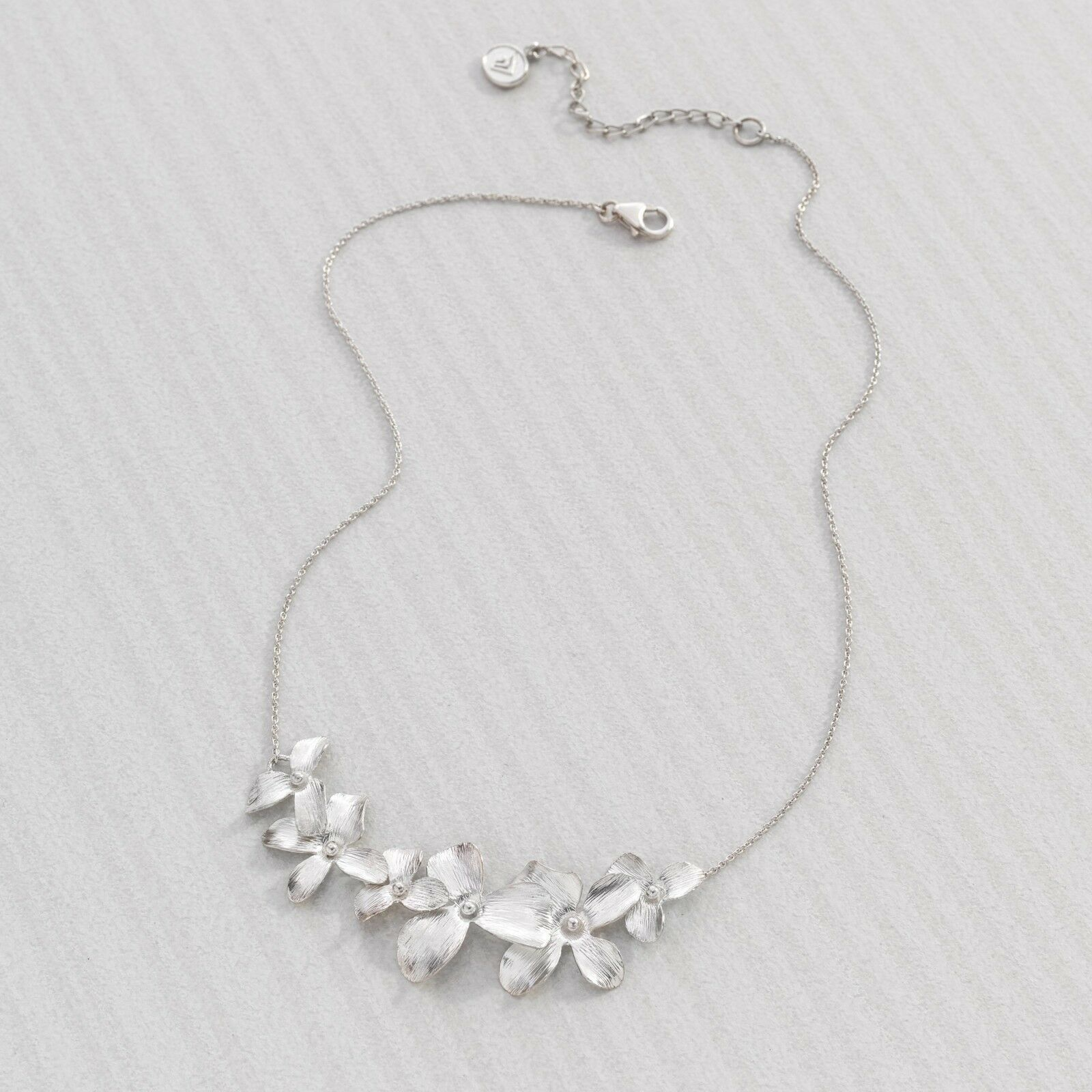 "Gorgeous Garden Whimsy Sterling Silver Necklace, 16+2"" Extender For Women S925"