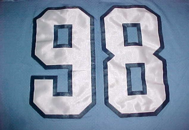 Lawrence Taylor #58 North Carolina Tar Heels NCAA ACC Blue Throwbacks Jersey XL image 9