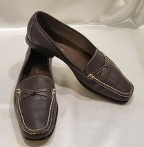 Cole Haan Leather Shoes Women 6M Brown Slip-on Loafers Moccasins Brazil - $30.96