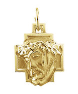 14K Gold Face of Jesus Pendant - $425.99