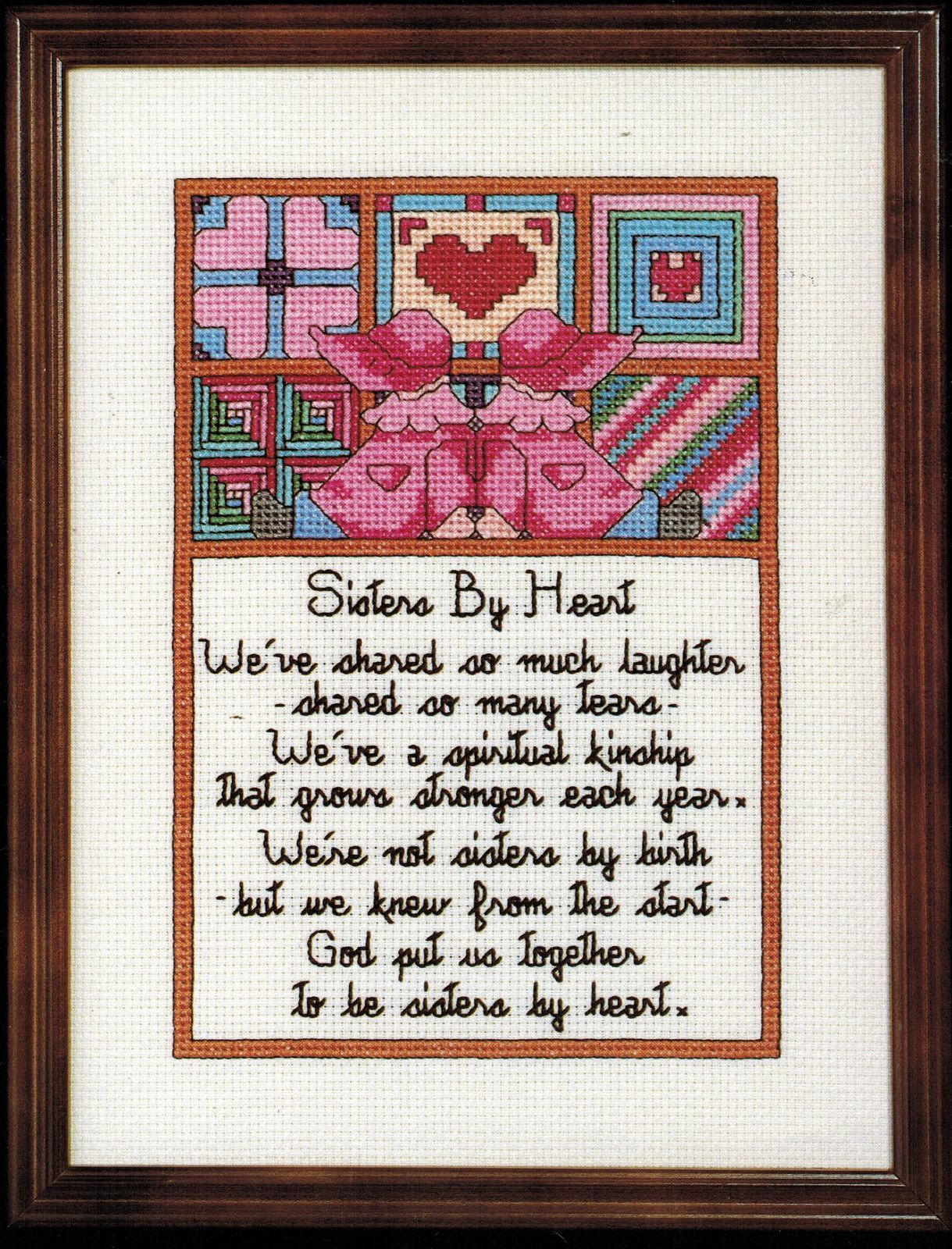 Primary image for Cross Stitch Sister's By Heart Mother Grandmother Pillow To My Parents Pattern