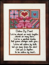 Cross Stitch Sister's By Heart Mother Grandmother Pillow To My Parents Pattern - $11.99