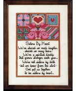 Cross Stitch Sister's By Heart Mother Grandmother Pillow To My Parents P... - $11.99
