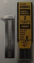 DeWalt DD4426B6 Letter Z Cobalt Jobber Drill Bits 6pcs. Germany - $25.74
