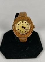 Timex vintage ladies mechanical watch fashion band gold colored dial rar... - $22.99
