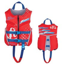 Full Throttle Hinged Rapid-Dry Flex-Back Life Vest - Child 30-50lbs - Red - $50.61