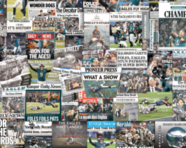 Philadelphia Eagles 2018 Super Bowl Newspaper Collage Print or Framed - $24.99