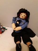 Springford Gifts Raggedy Ann Primitive Doll holding Doll black clothing ... - $24.70