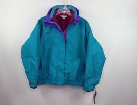 Vintage 90s New Columbia Womens XL Bugaboo Parka Winter Snow Jacket Aqua... - $101.78