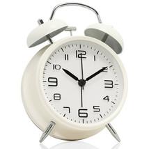 "Betus Non-Ticking 4"" Twin Bell Alarm Clock Metal Frame 3D Dial Desk Tabl... - $13.95"