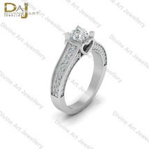 Heart Base Diamond Wedding Ring Womens Classic Engagement Ring Anniversa... - €124,41 EUR+