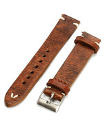 Straps Vintage Style Distressed Leather Wome/Men Watch Band Strap with S... - $13.49