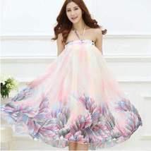Bohemian Printed Long Chiffon Women Maxi Skirt image 6
