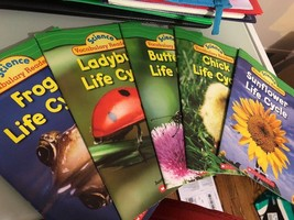 Lot of Science/Scholastic Readers- 5 TOTAL- Level 1- Soft Cover Books- Used - $3.95
