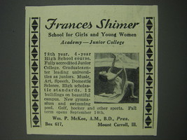 1930 Frances Shiner School for Girls and Young Women Advertisement - $14.99