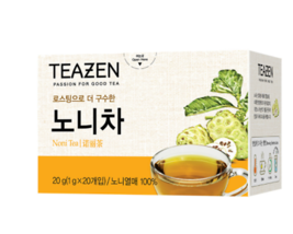 Teazen Noni Tea 1g x 20 Tea Bags x 10 roasted taste aroma Korea Food  - $83.66