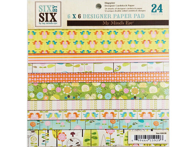 My Mind's Eye 6x6 Inch Happier Designer Paper Pad #6x6109