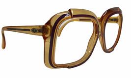 Vintage Christian Dior Oversize Eyeglass Frames Austria Amber Purple 53-16-140 - $87.25