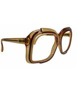 Vintage Christian Dior Oversize Eyeglass Frames Austria Amber Purple 53-... - $87.25