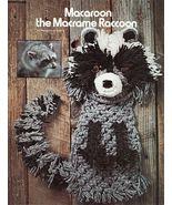 Vintage 70S Macrame Animal Art Easter Rabbit Panda Chimp Skunk Raccoon P... - $12.99
