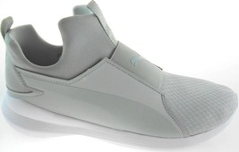 PUMA RABEL MID WOMEN'S GRAY/WHITE SLIP-ON SNEAKERS SZ 10 - $41.99