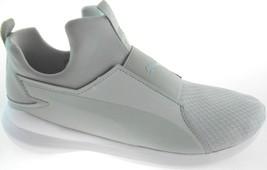 PUMA RABEL MID WOMEN'S GRAY/WHITE SLIP-ON SNEAKERS SZ 10 - $42.49