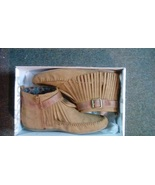 Ladies Tan Fringe Suede Size 9 Ankle Boot - $8.00