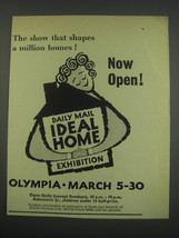 1957 Daily Mail Ideal Home Exhibition Ad - The show that shapes a million  - $14.99