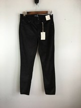 "J Crew Womens 9"" High Rise Toothpick Jeans 27 Black Velvet Stretch - $79.19"