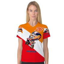 Dani Pedrosa MotoGP Caricature Women's V-Neck S... - $19.99 - $23.99