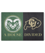 House Divided Man Cave NCAA College Football Welcome Mat Doormat Colorado - $29.70