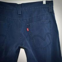 Levis 511 Skinny Jeans 33 x 30 Cotton 5 Pocket Casual Mid Rise Blue Pant... - $27.67