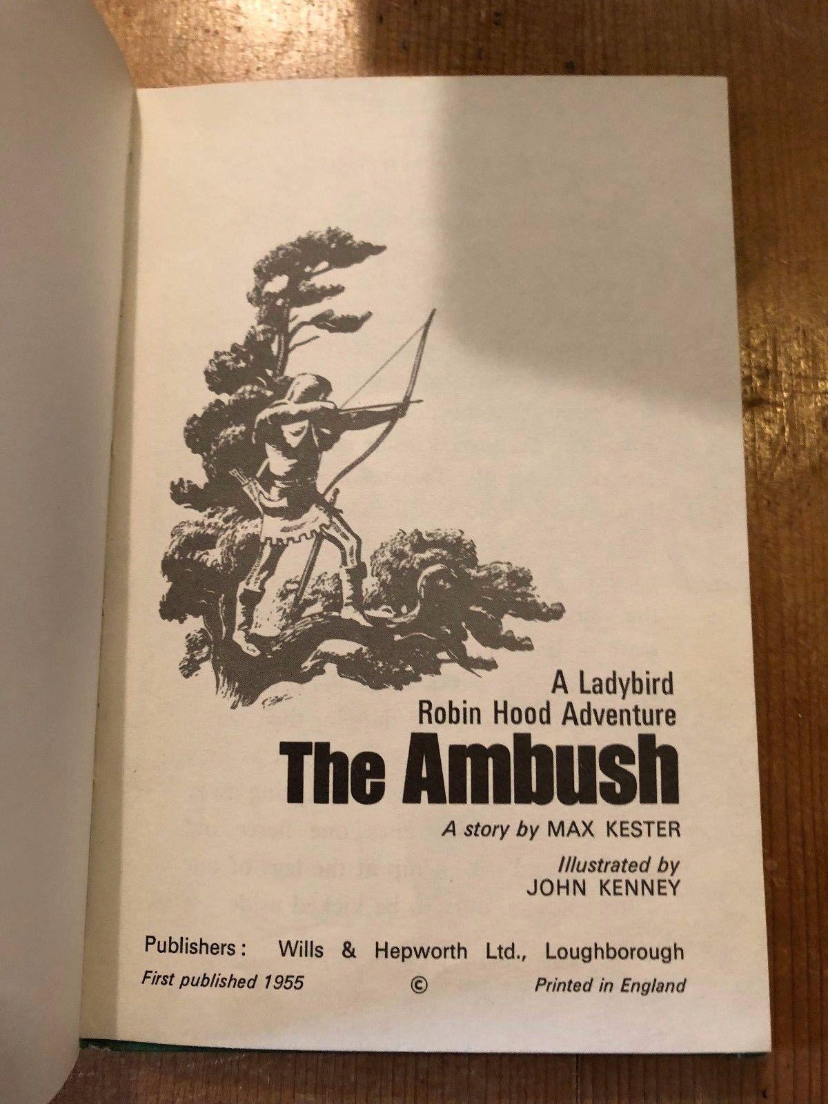 "1971-74 ""THE AMBUSH"" ROBIN HOOD ADVENTURES LADYBIRD BOOK (SERIES 549 - 15p NET)"